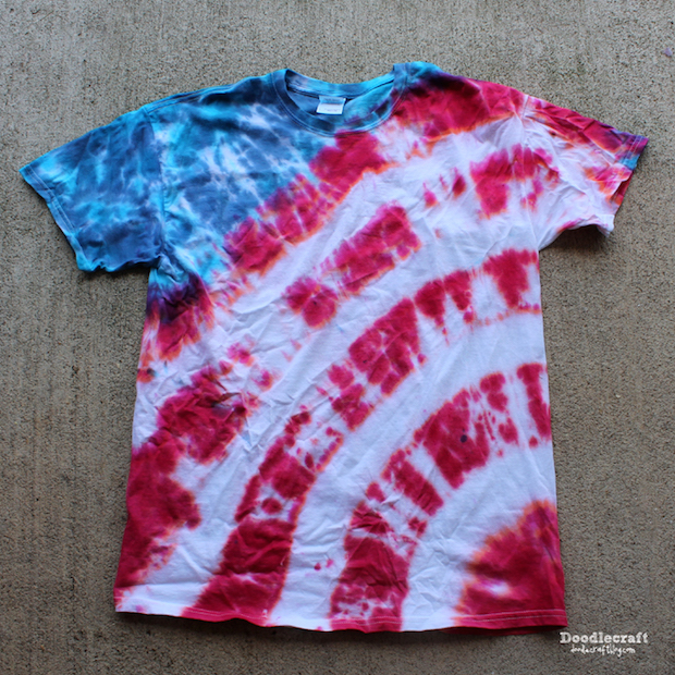 Get Ready for the 4th: Patriotic Stripes Tie Dye Shirt