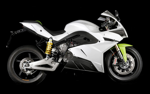 The Energica Ego electric-superbike