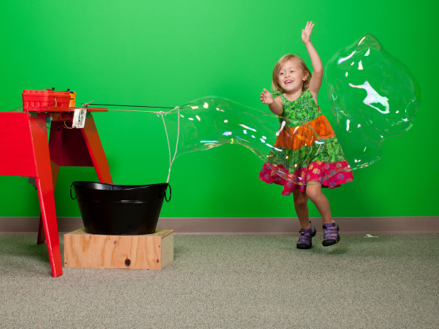 Gigantic Bubble Generator — This Arduino-controlled Bubblebot blows enormous, undulating soap bubbles that your young ones are sure to enjoy.