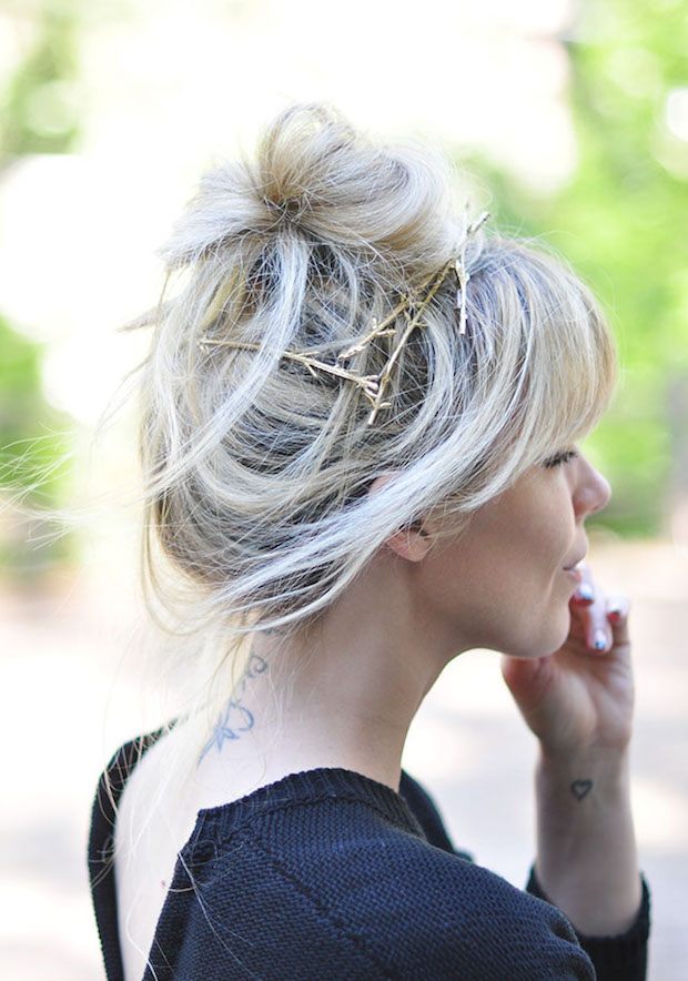 Stay Golden: DIY Gold Branch Hair Pins