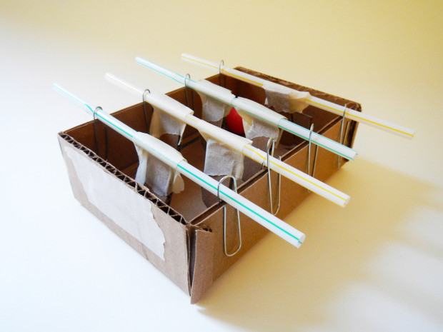 Mini Foosball — With just a few simple, household components, you can quickly put together your own Mini Foosball Game.