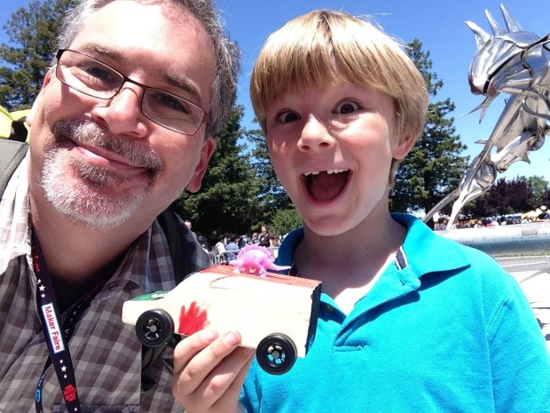 rafe and son at makerfaire