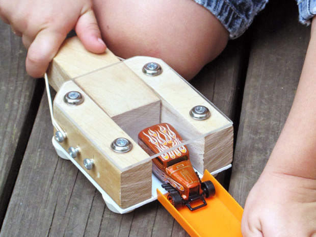 Toy Car Launcher — This project is perfect for parents and kids obsessed with toy cars.