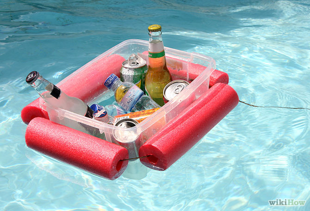 15 Minute Floating Pool Noodle Beverage Boat Make