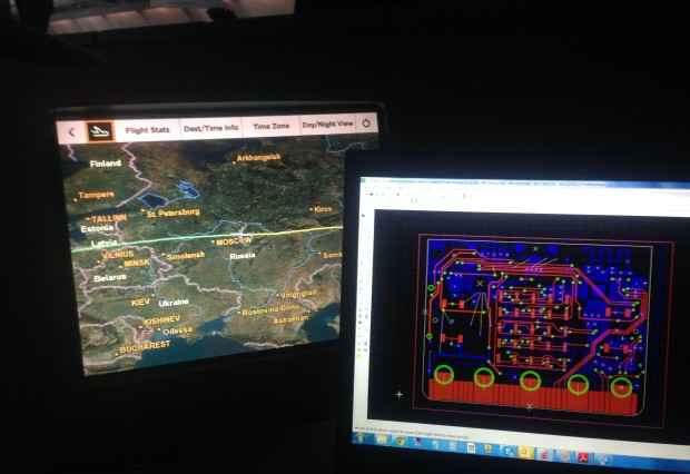 One of ARM's engineers helped design its hardware while on a flight over Russia (Credit: ARM)
