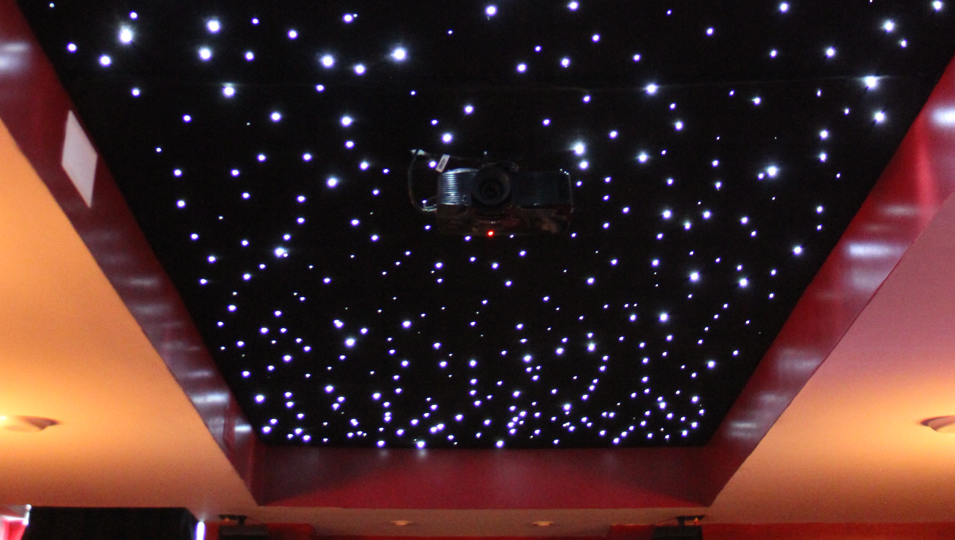 Installing a fiber optic starfield ceiling make for my wife and i a dream of ours has always been to have a home theater to watch movies with our family this past winter weve finally been able to make doublecrazyfo Choice Image