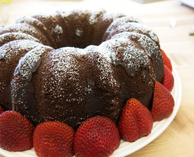 Nicole's talents extend to baking as well, as seen by her delicious triple chocolate cake