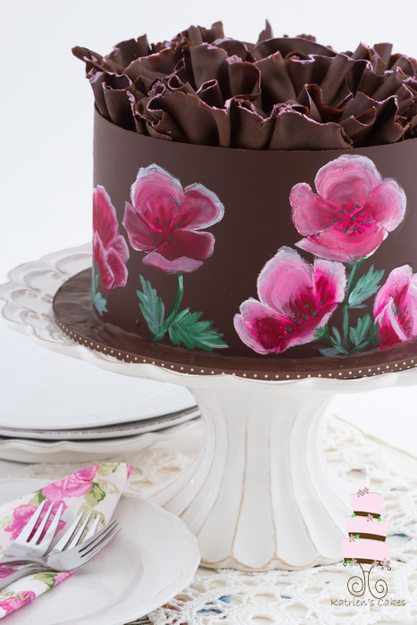 Food Art: How to Paint Flowers on a Cake