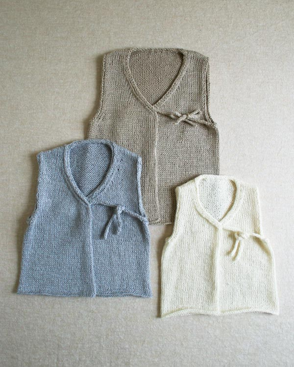 Knitting Patterns For Baby Vests : Handmade Kids: Knit Linen Vest for Babies Make: