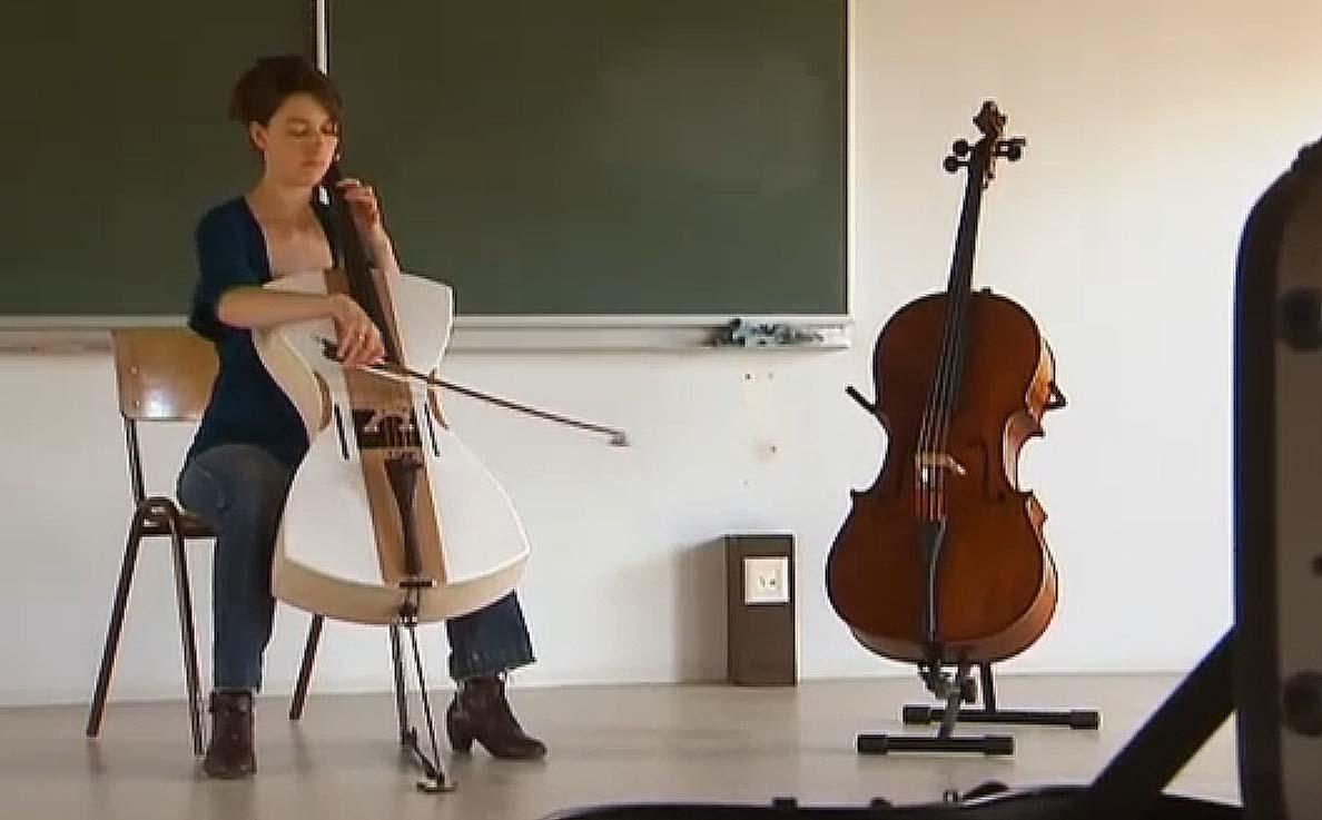 Unique Design Lets Styrofoam Amplify This Cello