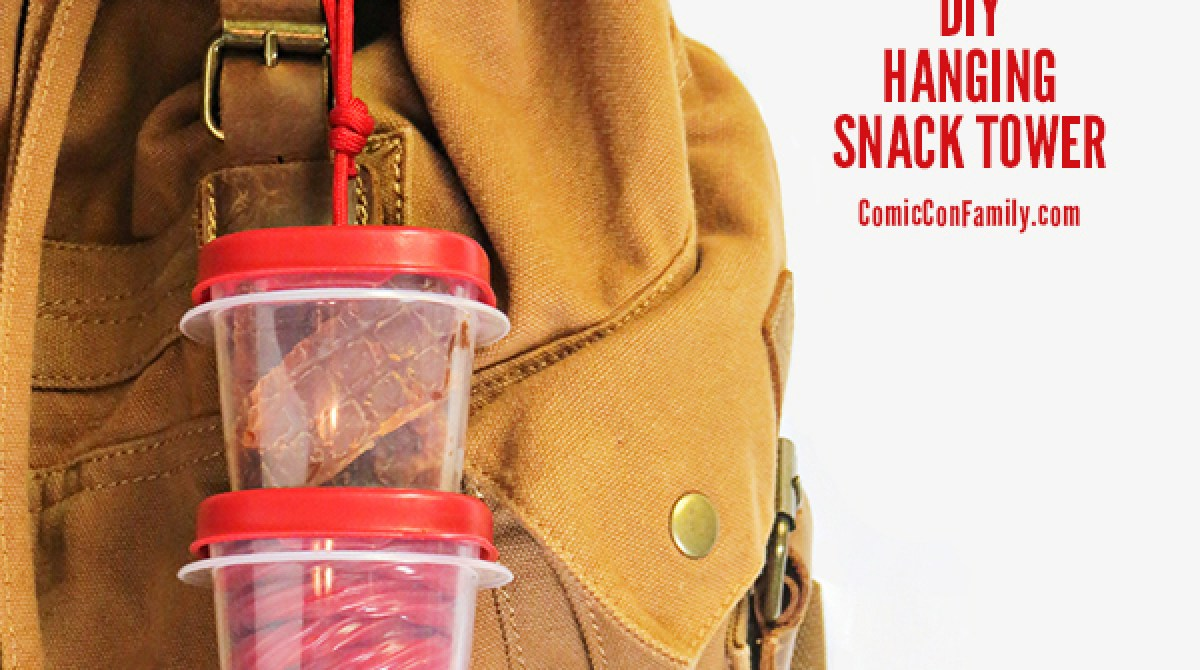 Snack Smart with a DIY Hanging Tupperware Tower