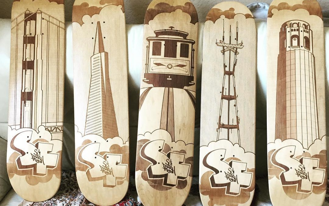 Laser Engraved Skateboard Decks