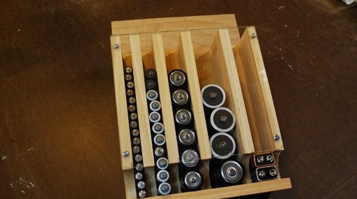 Make a Simple Wall-mounted Battery Organizer