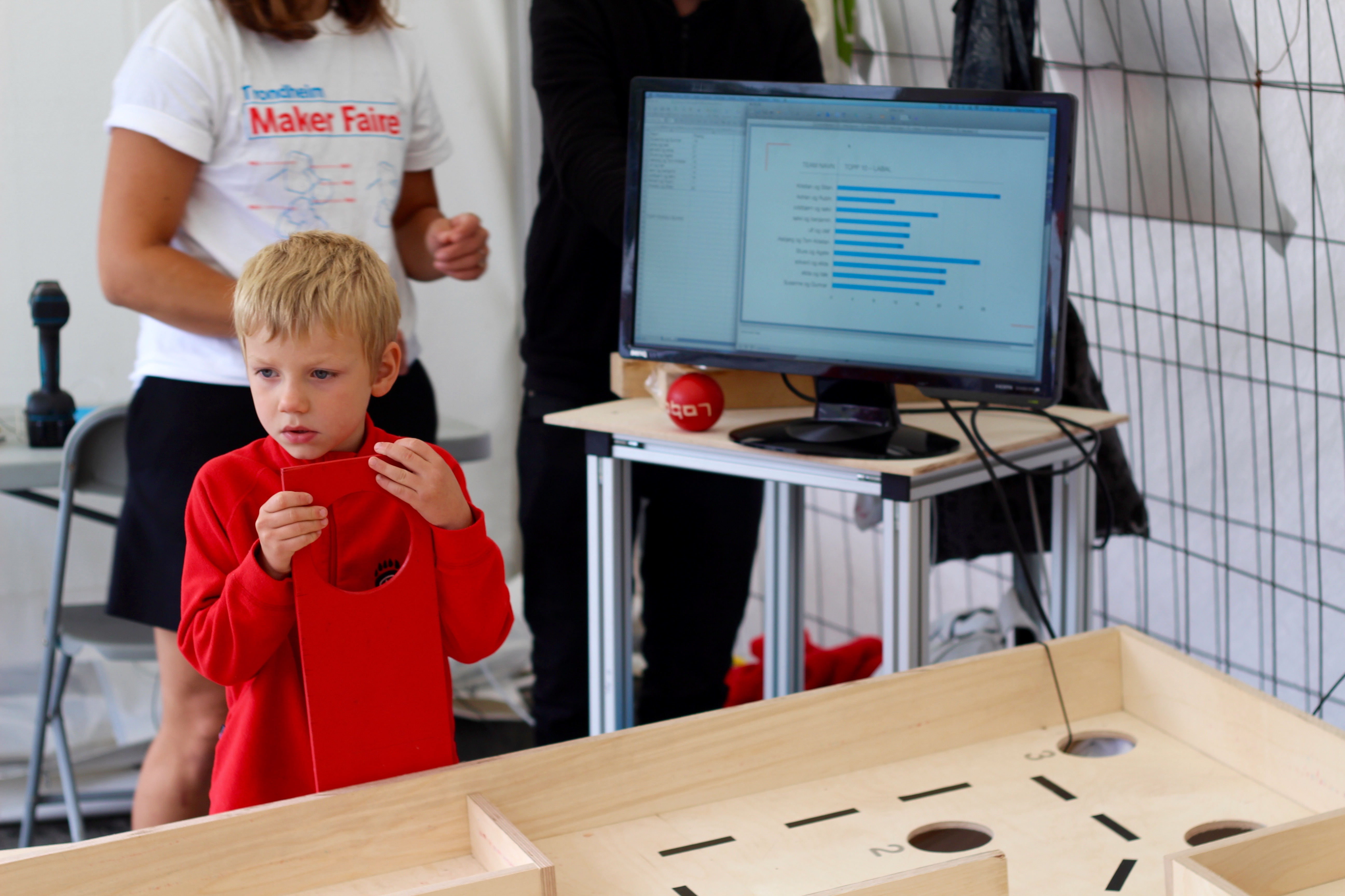 The Labyrinth Game at Trondheim Maker Faire