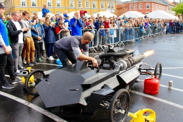 The Jet Engine car from the Sør-Trøndelag University College.