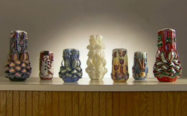 collection of carved candles