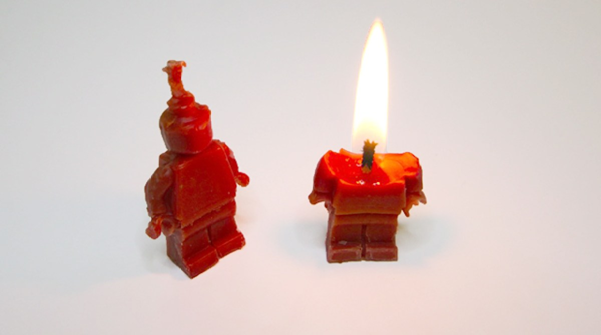 Cast Lego Minifig Candles Using Sugru