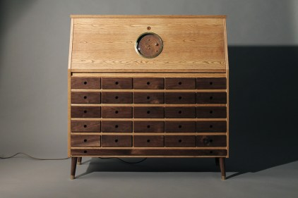 """The outside of Love Hultèn's amazing """"Tempel"""" workstation."""