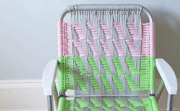 Woven Lawn Chair Revive Ratty Lawn Chairs With Comfy Macrame Make