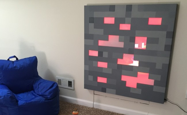 Light Up Minecraft Wall Art Is Picture Of Pixelated