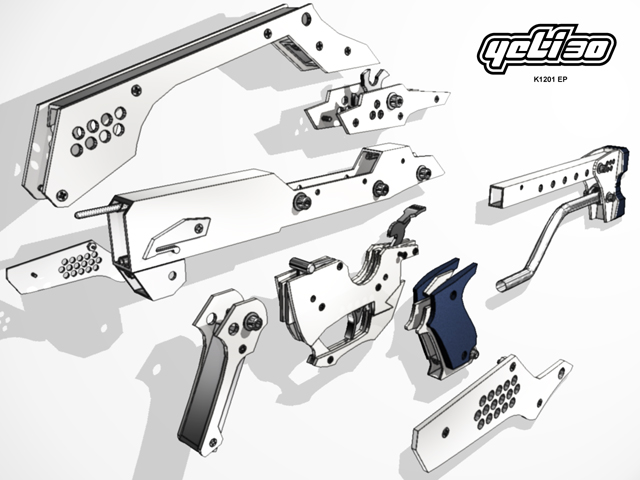 An exploded view of the Yeti.