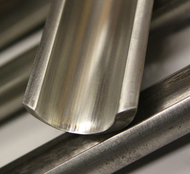 The cut profile of a A Spindle Roughing Gouge.