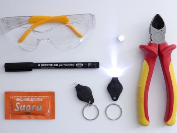 Simple Sugru Hack Puts Light on Your Safety Glasses