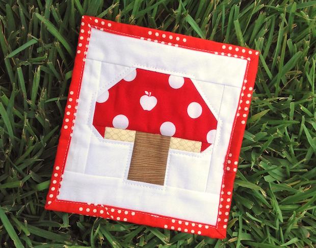 Sew a Fun Toadstool Quilt Block