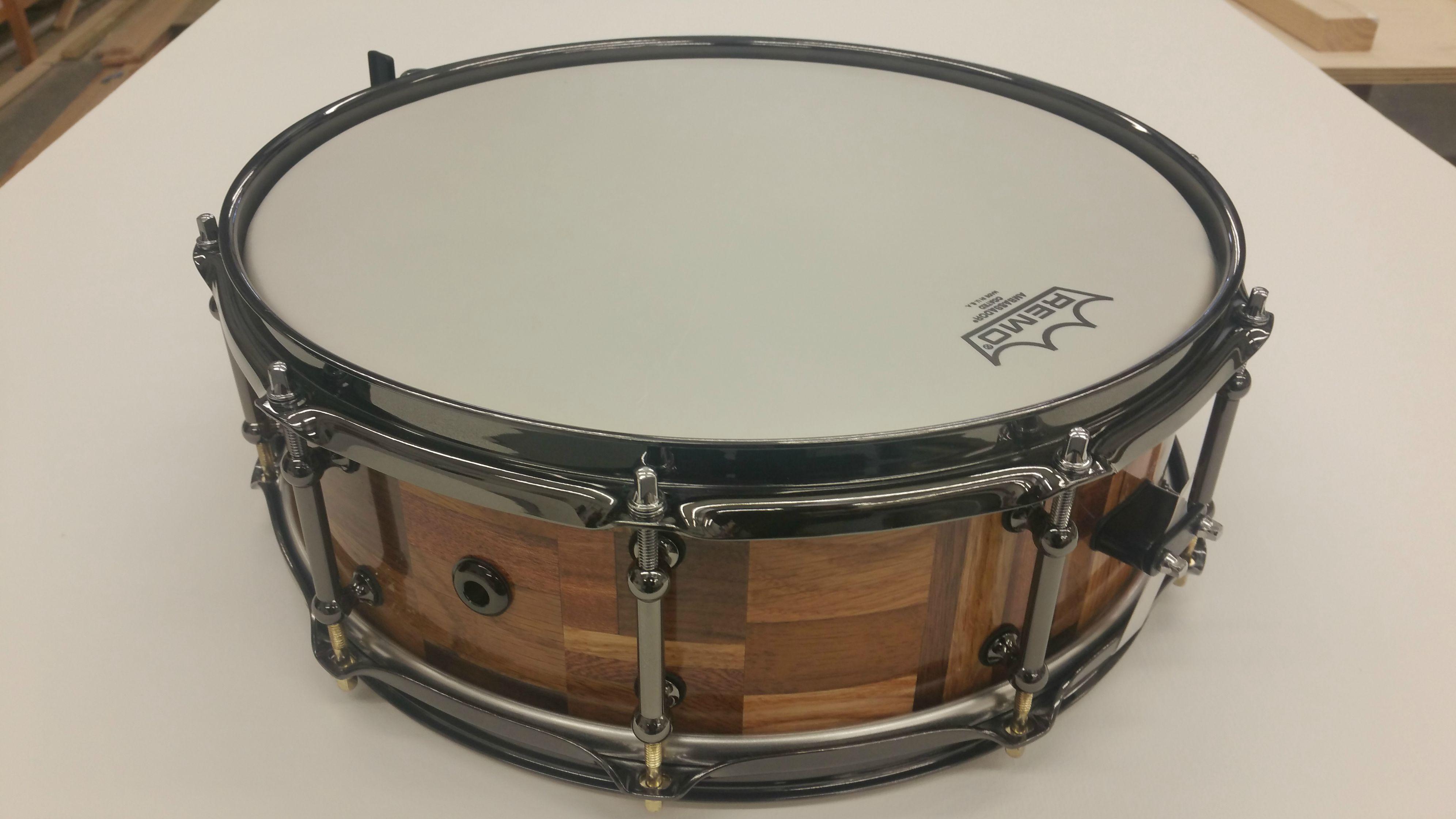 Beautiful Snare Drum Built from Scrap Wood