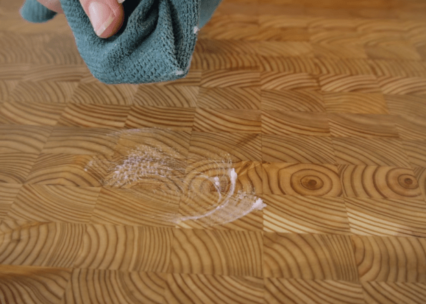 taking care of an end grain cutting board butcher block