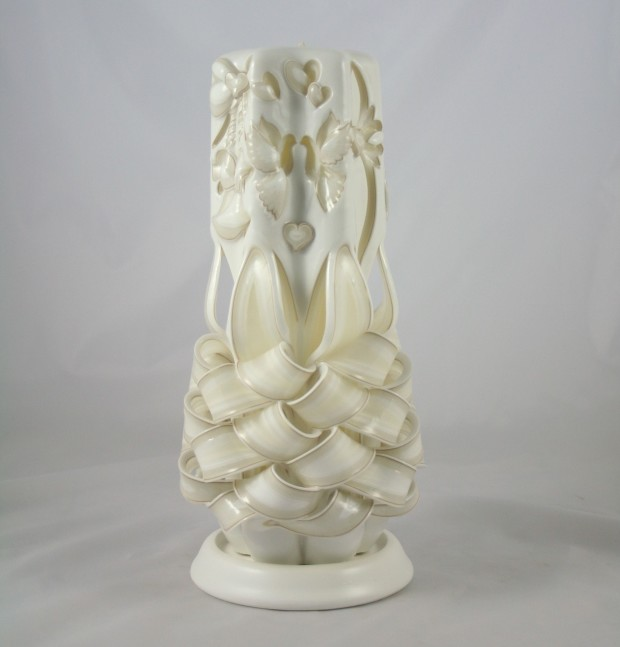 wedding carved candle meringue