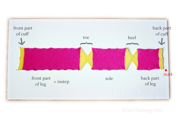 Super-Easy Socks That You Knit Flat