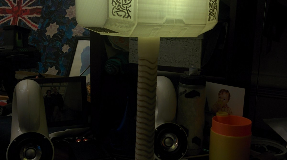 Illuminate Your Desk with Thor's 3D Printed Hammer
