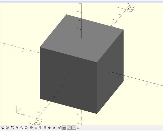 Yay! We made a cube!