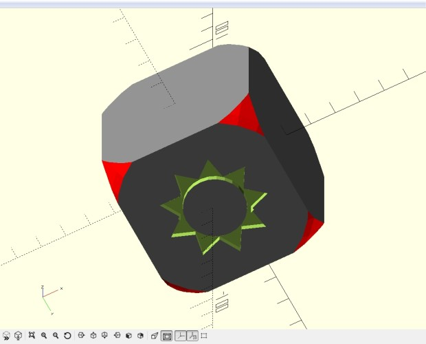Use the mouse to rotate the cube in the display area and see the bottom of the cube.