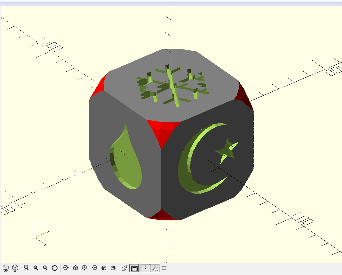 How to Design Custom Game Dice with OpenSCAD