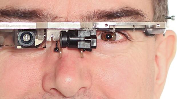 Steve Mann with EyeTap