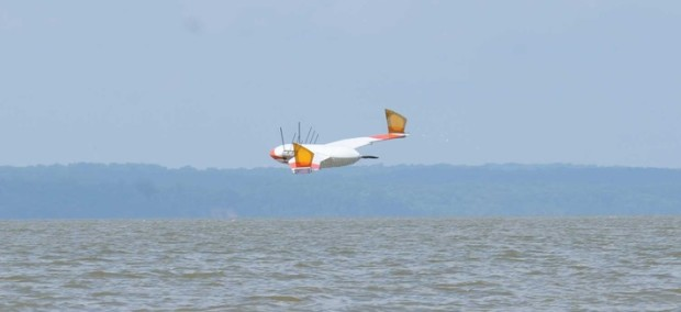 The Flimmer features unique wings that are outfitted with fins for swimming under water.