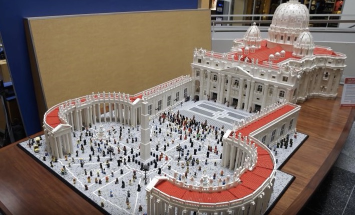 Upon This Brick… Details of the Lego Vatican Build