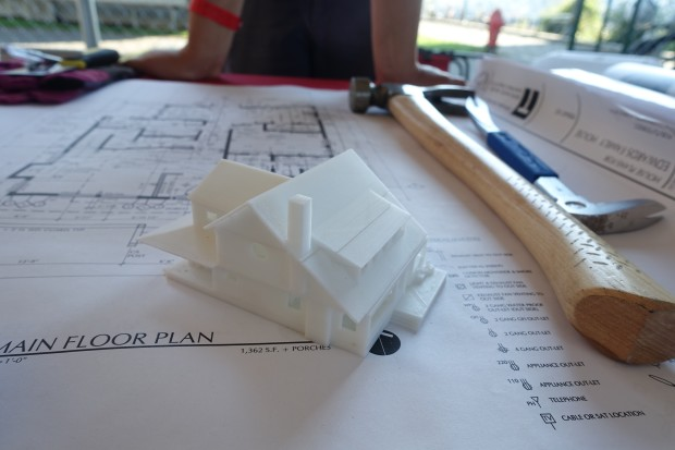 Joey Edwards designed and 3D printed a house for his parents, and had the design turned it into construction drawings.