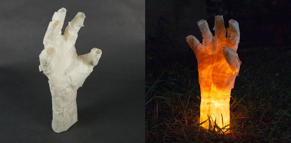 Make These Spoooky Masking Tape Mummy Hands