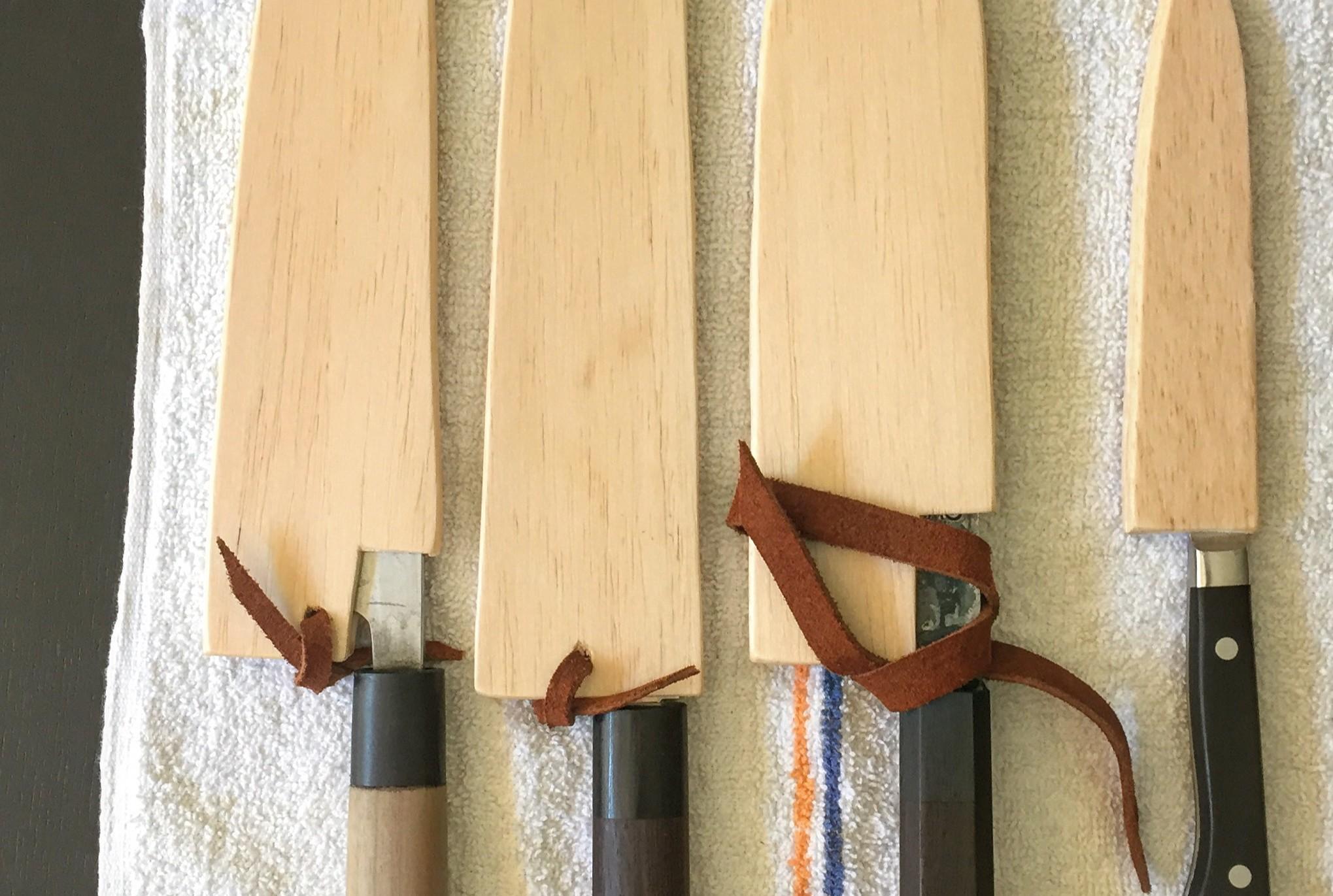 Easy DIY: A Knife Sheath Made from Balsa Wood