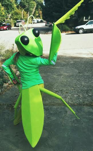 Zoe modeling her costume