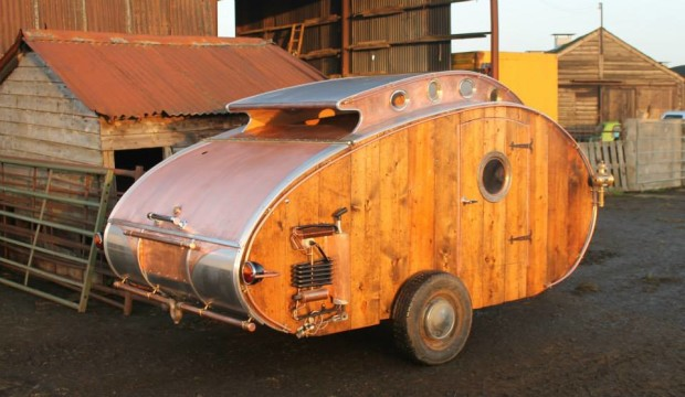This Teardrop Trailer Lets You Camp In Steampunk Style Make
