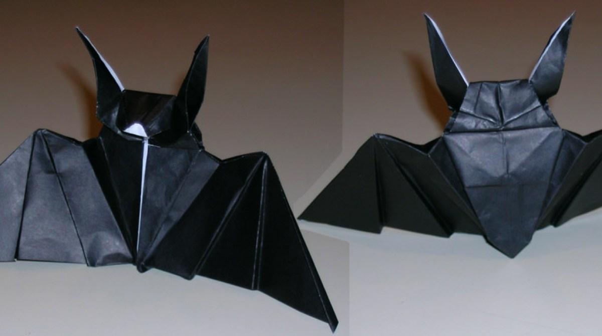 How to make wicked origami bats for your HALLOWEEN PARTY decor ... | 670x1200