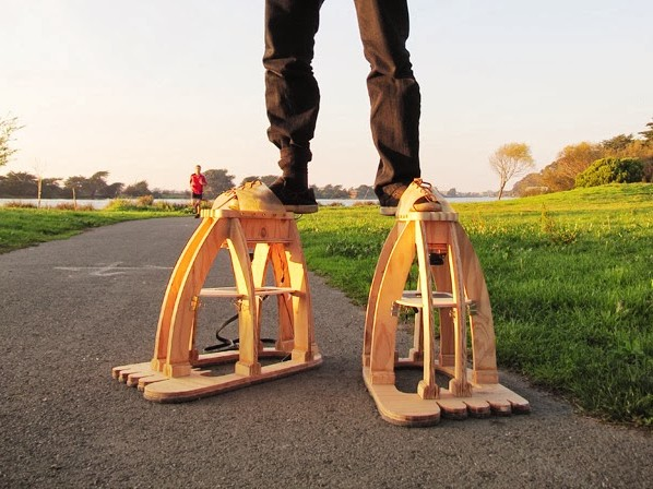 Live the Legend of Invisible Giants with These Eyeball Foot Stilts