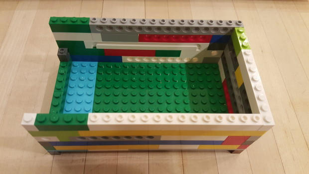 My son finished it off by creating a Lego enclosure for the Arduinos.