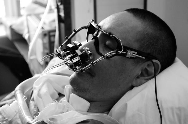 Eyewriter DIY eye tracking device. Image courtesy of Eyewriter.org