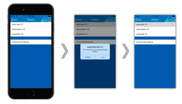 Use a cell phone app to load custom configurations to the snickerdoodle's FPGA