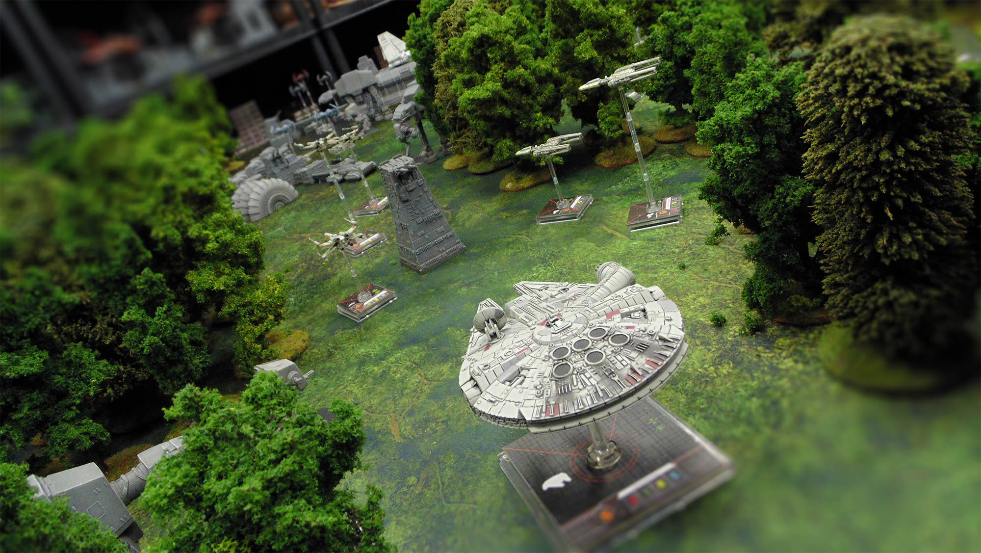 """Playing a Hypothetical Star Wars """"X-Wings on Endor"""" Battle"""